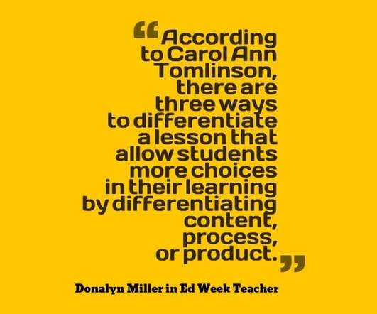 Differentiated Instruction Edtech Update