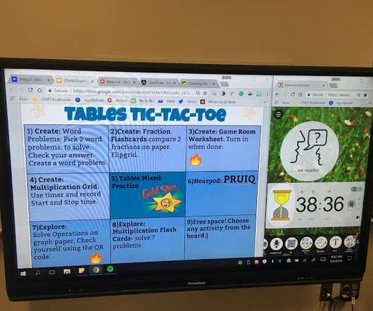 Blended learning and secondary edtech update tic tack toe in the blended classroom fandeluxe Choice Image
